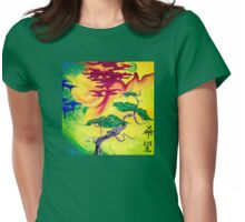 Hope, Bonsai Tree Sun and Moon  Womens Fitted T-Shirt