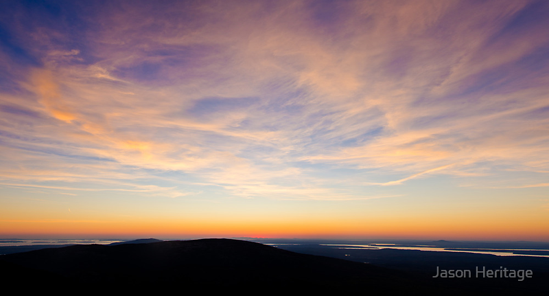 Cadillac Mountain Sunset.4 - Acadia NP, Maine by Jason Heritage