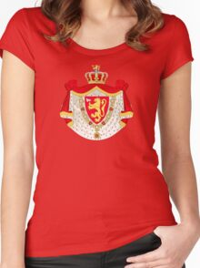 Greater Coat of Arms of Norway Women's Fitted Scoop T-Shirt