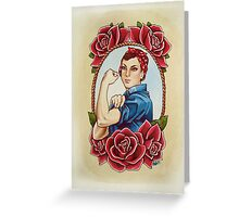 Rosie with Roses Greeting Card