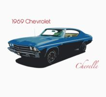 1969 Chevrolet Chevelle T-shirt, Hoodie, Kids Clothes or Sticker by Kris Graves