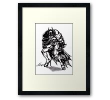 Battyman Framed Print