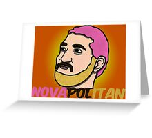Novapolitan Background Greeting Card