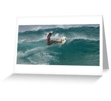 Surfing The North Shore Greeting Card