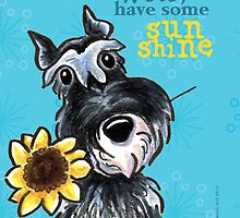 Sunny Schnauzer Cheer Up Cards by offleashart