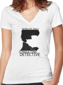 World's Only Consulting Detective (outside edition) Women's Fitted V-Neck T-Shirt
