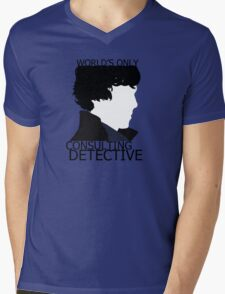 World's Only Consulting Detective (outside edition) Mens V-Neck T-Shirt
