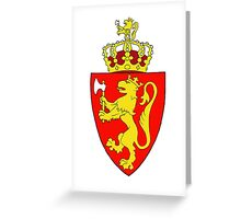 Coat of Arms of Norway Greeting Card