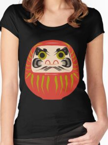 Japanese Daruma T-Shirt Women's Fitted Scoop T-Shirt