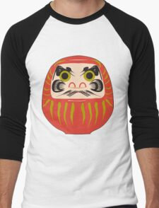 Japanese Daruma T-Shirt Men's Baseball ¾ T-Shirt