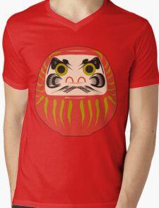 Japanese Daruma T-Shirt Mens V-Neck T-Shirt