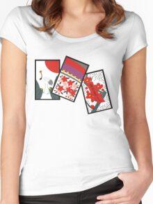 Japanese Hanafuda T-Shirt Women's Fitted Scoop T-Shirt