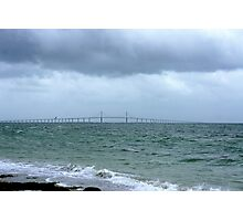 The Skyway on a stormy day Photographic Print