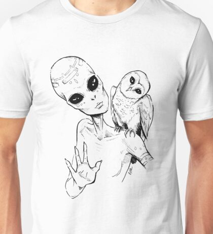Alien Greeting Unisex T-Shirt