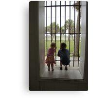 Let us out! Canvas Print