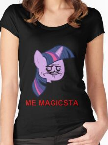 Twilight Sparkle ME GUSTA (Magicsta, Elements of Harmony) Women's Fitted Scoop T-Shirt