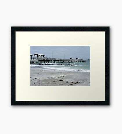DeSota Pier Framed Print