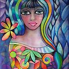 Rainbow lady by Karin Zeller