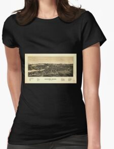 Panoramic Maps Sanford Maine Womens Fitted T-Shirt