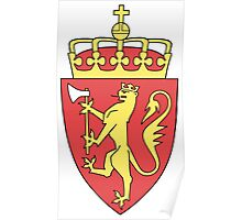Coat of Arms of Norway  Poster