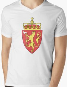 Coat of Arms of Norway  Mens V-Neck T-Shirt