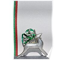 Christmas:  Holiday Stripes and a Reindeer II Poster