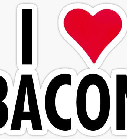 I Heart Bacon!! Sticker