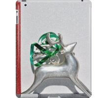 Christmas:  Holiday Stripes and a Reindeer II iPad Case/Skin