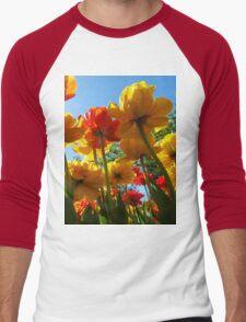 Tulips 8 Men's Baseball ¾ T-Shirt