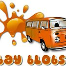 Volkswagen Kombi Tee shirt - Bay Blobs Orange by KombiNation