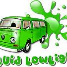 Volkswagen Kombi Tee shirt - Liquid Lowlight Green by KombiNation