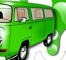 Volkswagen Kombi Tee shirt - Liquid Lowlight Green Sticker