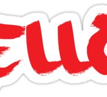 Mellow Skateboards Logo - Red Sticker