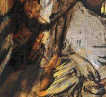 The Vulture Man in Pleistocene Close-Up Sticker