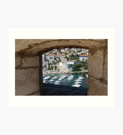 Dubrovnik Through the Wall Art Print