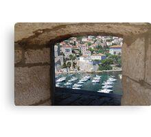 Dubrovnik Through the Wall Metal Print