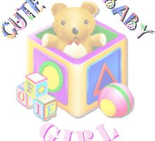 Cute Baby Girl - Kids Tshirt by judygal