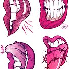 Lips Sticker Collection by Chris Wahl