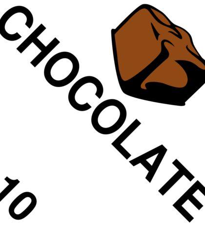 Chocolate: Hazardous! Sticker