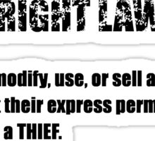 COPYRIGHT 101 #3 - Sticker