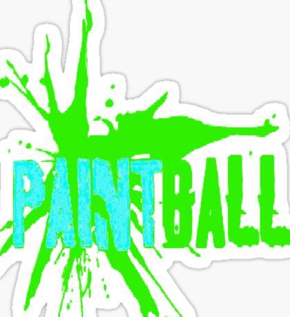 Paintball Blue Green Sticker
