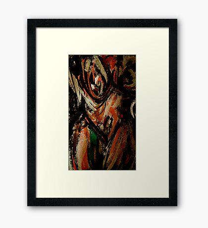 wild spirit woman..... face breast Framed Print