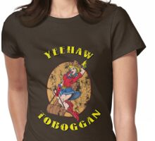 Yeehaw cowgirl - distressed Womens Fitted T-Shirt