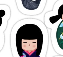 Kokeshi stickers 2 Sticker