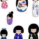 Kokeshi stickers 5 by Joumana Medlej