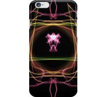 pink green ob Black iPhone Case/Skin