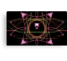 pink green ob Black Canvas Print