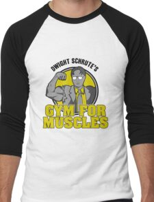 Dwight Schrute's Gym for Muscles Men's Baseball ¾ T-Shirt