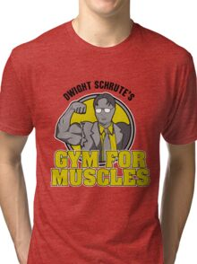 Dwight Schrute's Gym for Muscles Tri-blend T-Shirt