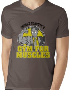 Dwight Schrute's Gym for Muscles Mens V-Neck T-Shirt